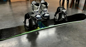 Woman's Snowboard, Boots and Bindings