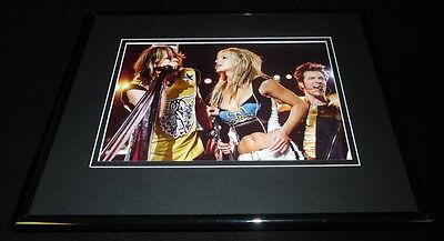 Britney Spears Steven Tyler Super Bowl XXXV Halftime Framed 11x14 Photo Display