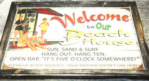 "Cottage sign - ""Welcome to our Beach House"""