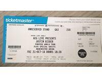 Justine Bieber Ticket