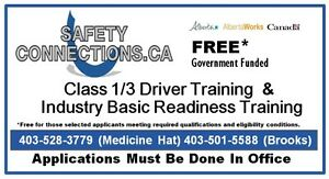 *FREE Class 1/3 Driver Training -Occupational Employment Program