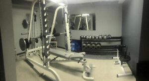 Complete Commercial Grade Home Gym & Free Weights