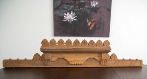 Vintage/Antique Decorative Wooden Carved Pediment
