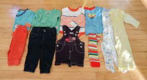 Lot of boy clothing 6-12 months
