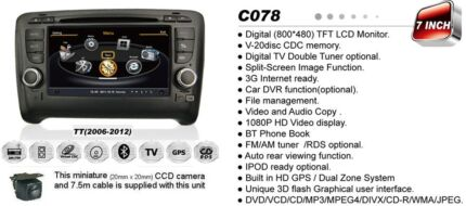 GPS DVD BLUETOOTH IPOD USB REVERSE CAMERA SYSTEMS FOR MOST CARS Brisbane City Brisbane North West Preview