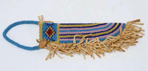 Late 20th Century Plains Beaded Scabbard with Fringe