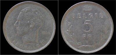 Leopold III 5 frank 1936 VL- pos B