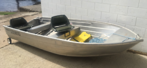 Boat 3.8m dinghy, with Evinrude 8hp 2 stroke motor