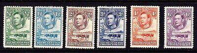 BECHUANALAND 1938 PART SET TO 6d MOUNTED MINT SG118 - 124