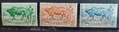 Cameroun 1946 definitives 3 values MH