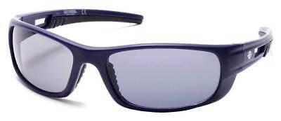 Harley-Davidson Men's Aerodynamic Temple Sunglasses, Matte Blue & Smoke Lenses