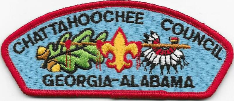 Chattahoochee Council Strip Plastic Back CSP SAP Boy Scouts of America BSA