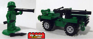LEGO 30071 Army Soldier Minifigure Jeep BrickArms Bazooka & Lewis Gun Toy Story