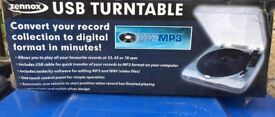 USB turntable, brandnew,converts record collection to digital format in minutes,bargain at £20