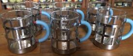 Alessi 6x Tea Coffee Mug Heat Resistant Glass Michael Graves Design