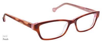 NEW Women's Frame Lisa Loeb Taffy c4 Peach Brown glasses & case 0067 - Lisa Frame