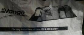 Vango Icarus 500 / 600 front canopy