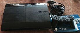 Sony PlayStation 3 Super Slim 500Gb games console, black