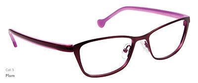 NEW Women's Frame Lisa Loeb Matches c3 Plum Purple glasses & case 0068
