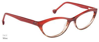 NEW Women's Frame Lisa Loeb Wonder C3 Wine Red glasses & case 0065