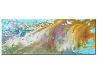Original abstract painting 'Gilda' (Acrylic on canvas - 89cm x 30cm x 3.5cm) by AJ Paris