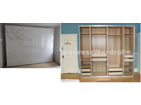Large Ikea PAX Wardrobe with Pax Tones Sliding Doors