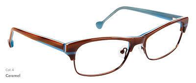 NEW Women's Frame Lisa Loeb Home C4 Caramel Brown glasses & case 0066 - Lisa Frame