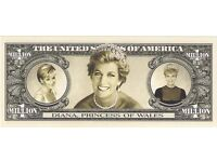 UNITED STATES - ONE MILLION DOLLAR BANKNOTE - PRINCESS DIANA - PERFECT UNC.CONDITION