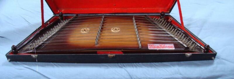 Vintage Lien Cheng Hammered Dulcimer With Case