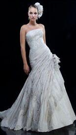 Ian Stuart Wedding dress -Devereux in honey metallic - size 8
