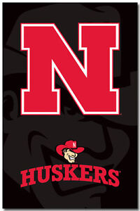 NEBRASKA CORNHUSKERS - LOGO POSTER - 22x34 SHRINK WRAPPED - NCAA 6126