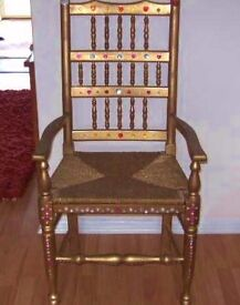 Lovely Old Carver Style Chair Fit For A Queen! OFFERS WELCOME