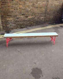 Vintage folding bench:
