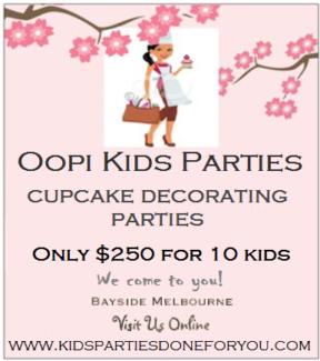 Oopi Kids Cuupcake Decorating Parties