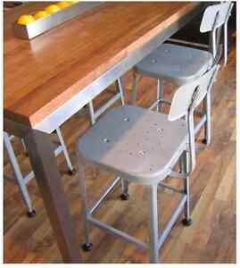 Set of four - all welded steel bar stools - made in USA