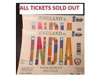India Vs England 2nd ODI - Sat 14/07/2018 at Lord's Cricket