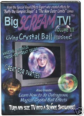 Scream Halloween Decorations (Big Scream TV Volume 3, Halloween Prop, Yard Decor,)