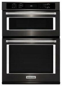 KITCHENAID NEW KOCE507EBS 27 COMBI CONVECTION SELF CLEAN OVEN  COMBI WALL OVEN (BD-1555)