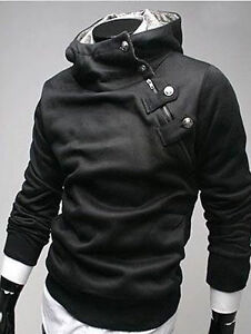 Men's Botique Designer Slim  FIt Casual Sweatshirt Hoody Top Jacket Coat Hoodies
