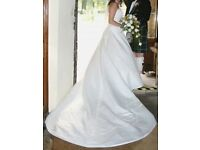 Ivory Forever Yours wedding dress / bridal gown lots of detail, Huge train 6ft, Excellent Cond. £380