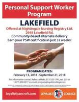 Personal Support Worker Program - Lakefield, ON