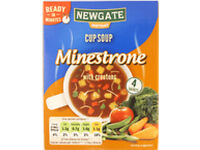 Free : Soup Packs (x8 approx), with 4 sachets per pack(box). Newgate Minestrone Cup Soup