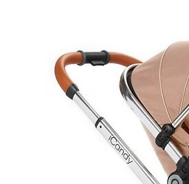 ICandy Peach Handle tan leather & Chrome - New - FREE P&P