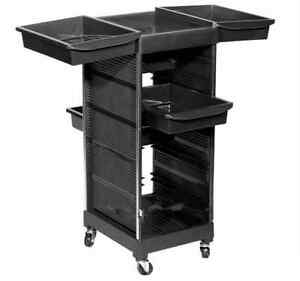 Salon Trolley Storage Cart Hair Dryer Holder