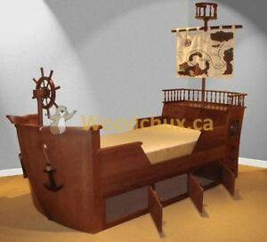 BLACK BEARDS PIRATE SHIP Twin Bed & Bedroom Set ... ♥‿♥