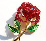 Crystal Rhinestone Brooches
