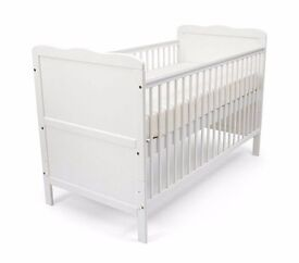 Abacus Baby cot bed with baby changer model name Isabella