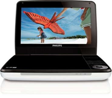 "Phillips 9"" portable DVD player"