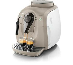 Machine a cafe Saeco Philips 2000 Series Super-automatic Espresso Machine HD8645/67,Beige et blanc REFUR