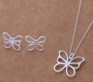 Beautiful new sterling silver necklace & earring sets.